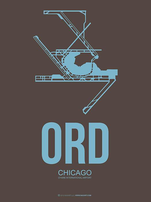 Naxart Studio - ORD Chicago Airport Poste... Print