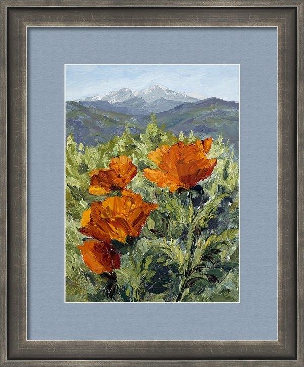Mary Giacomini - Longs Peak Poppies Print