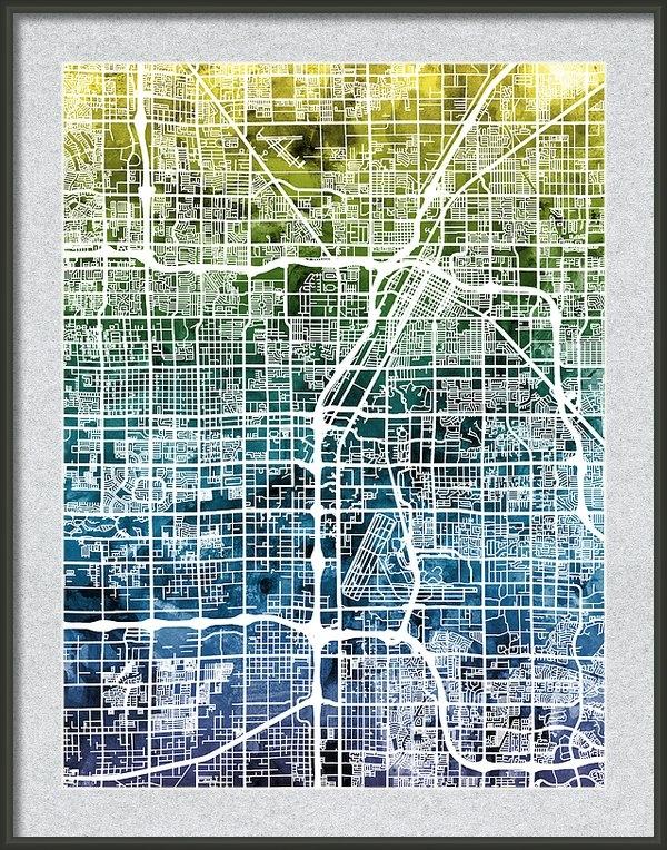 Michael Tompsett - Las Vegas City Street Map Print