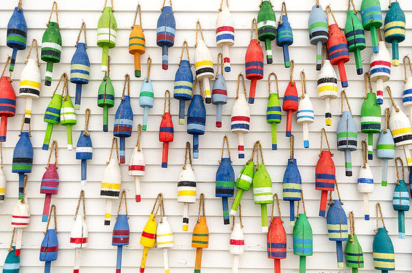 At Lands End Photography - Lobster Buoys Print