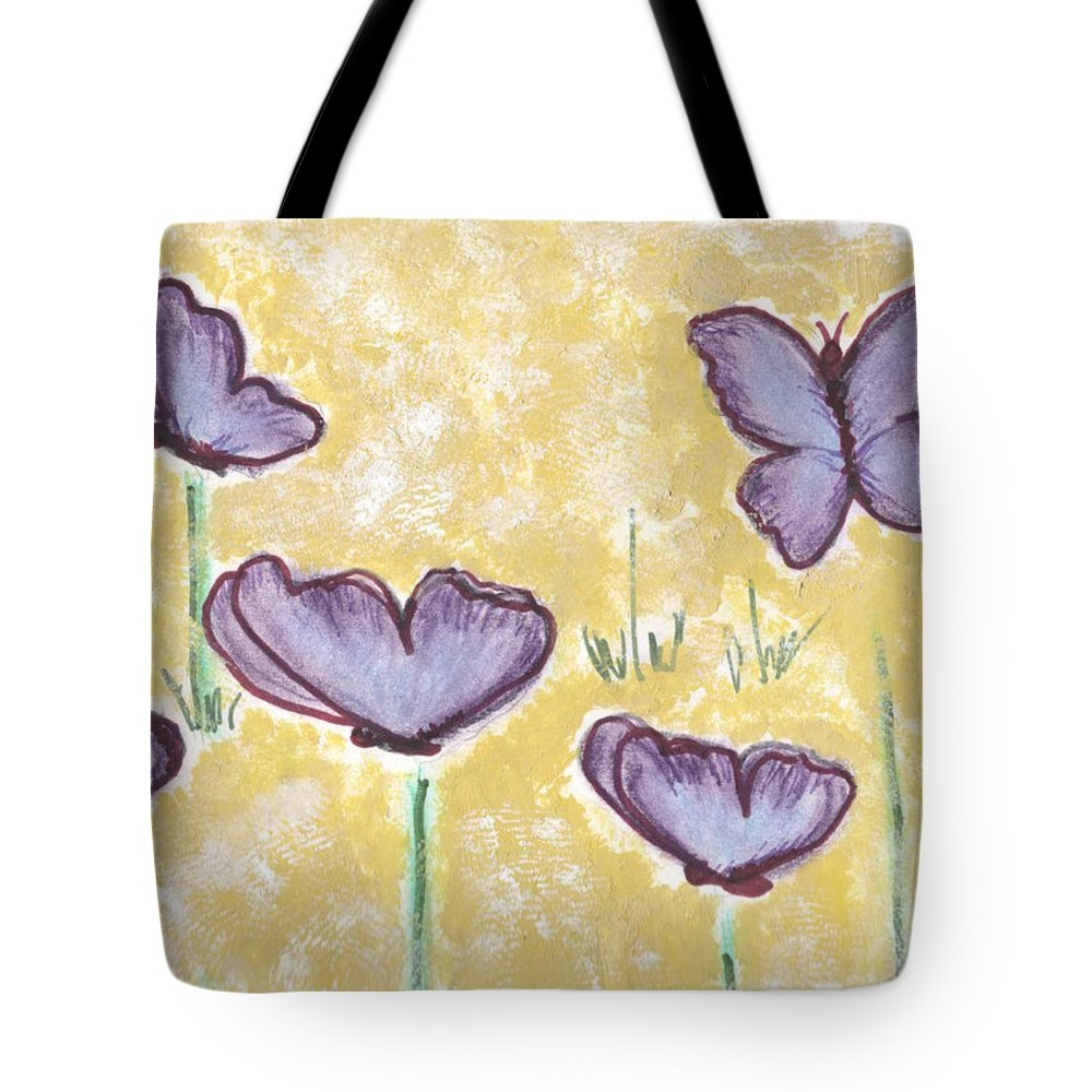 Angela Hawkins - Butterfly Flower Print