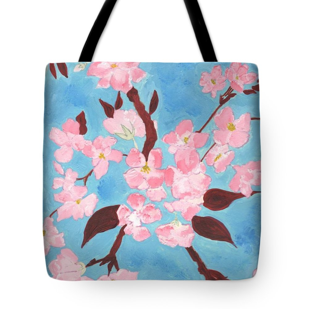 Angela Hawkins - Blue Cherry Blossom Print
