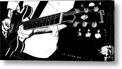 Chris Berry - Gibson Guitar Graphic Print