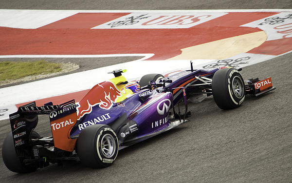 Will Akers - S. Vettel Turn 12 Print