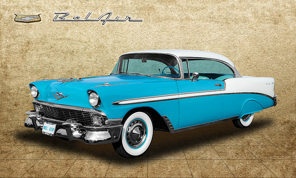 Frank J Benz - 1956 Chevrolet Bel Air 2 ... Print