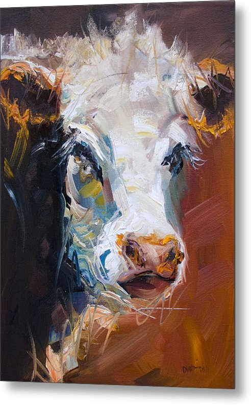 Diane Whitehead - Orange Cow Print