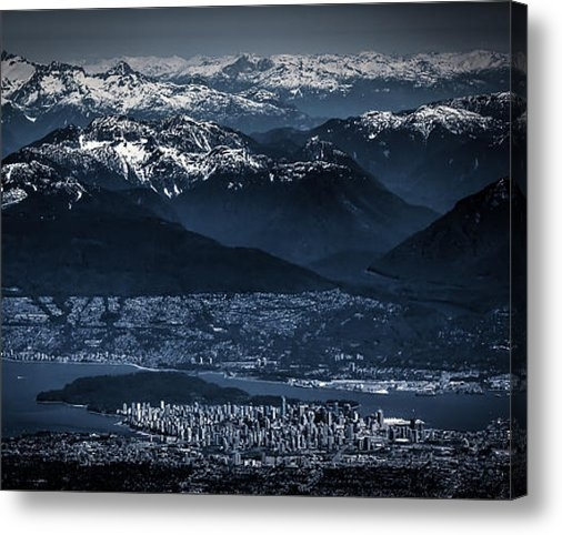 Eti Reid - Downtown Vancouver and th... Print