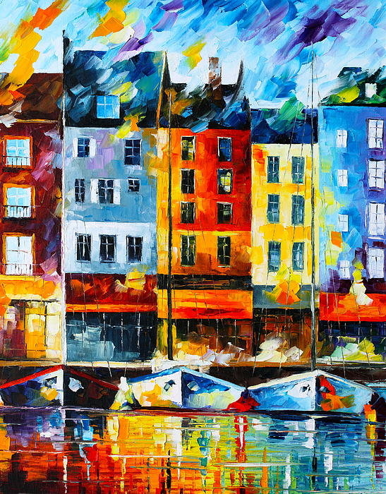 Leonid Afremov - Normandy France Print