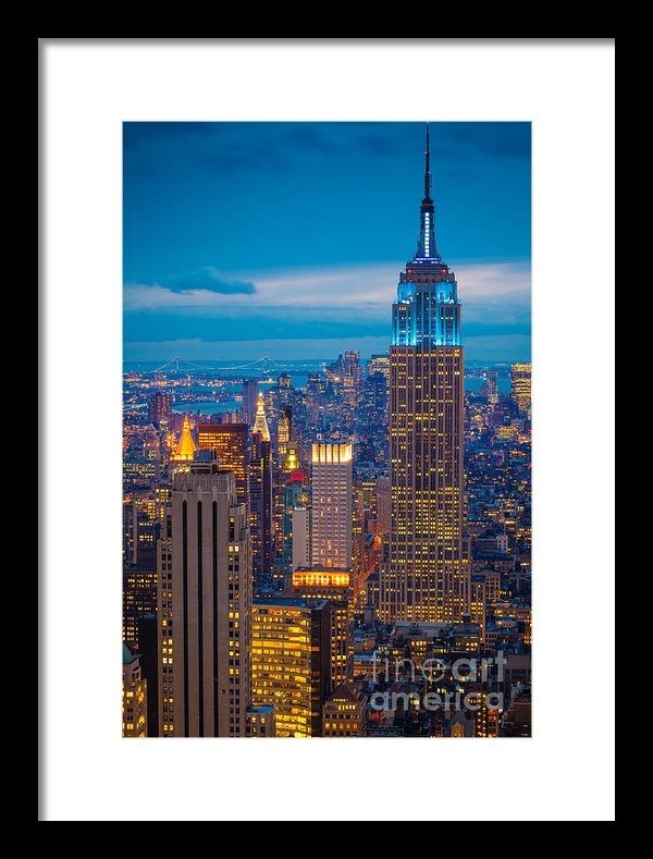 Inge Johnsson - Empire State Blue Night Print