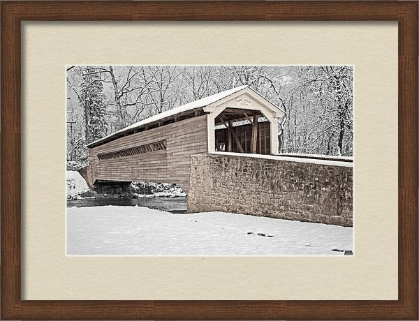Michael Porchik - Rapps Bridge in Winter Print