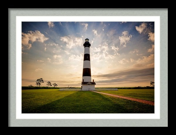 Tommy White - Bodie Lighthouse Sunrise,... Print