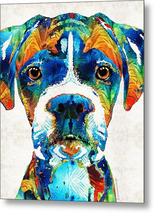 Sharon Cummings - Colorful Boxer Dog Art By... Print