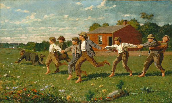 Winslow Homer - Snap the Whip Print