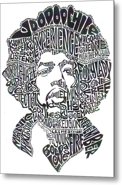 Kato Smock - Jimi Hendrix Black and Wh... Print