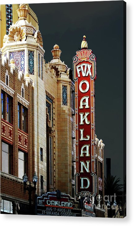 Wingsdomain Art and Photography - Fox Theater . Oakland Cal... Print