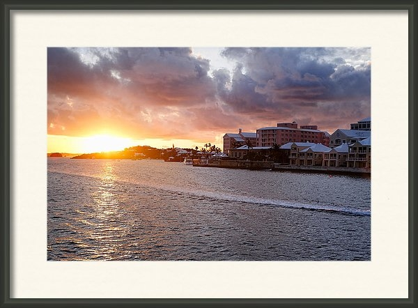 George Oze - Sunset View of Hamilton B... Print