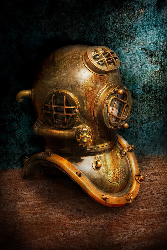 Mike Savad - Steampunk - Diving - The ... Print