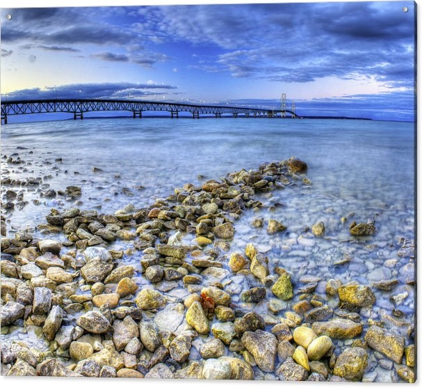 Twenty Two North Photography - Mackinac Bridge from the ... Print