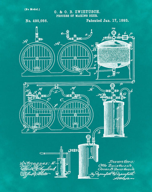 Bill Cannon - Brewing Process Patent 18... Print