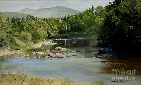 Laurie Rohner - Summer on the River in Ve... Print