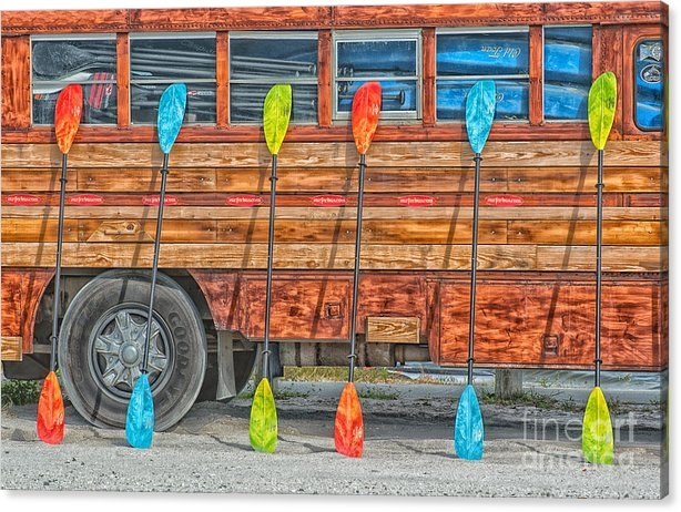 Ian Monk - Bright Colored Paddles an... Print