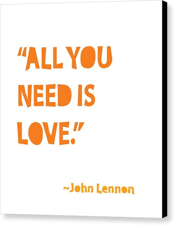 Cindy Greenbean - All You Need is Love Print