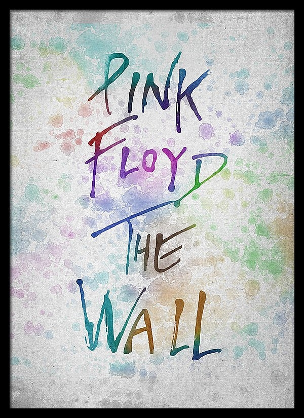 Aged Pixel - Pink Floyed The Wall Print