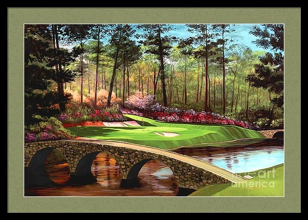 Tim Gilliland - 12th hole at Augusta  Print