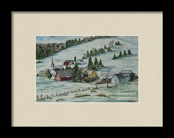 Charlotte Blanchard - Winter In East Chatham Ve... Print