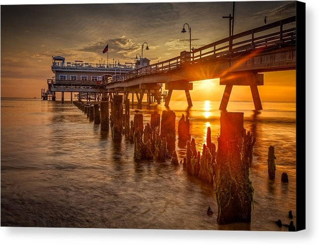 Roger Mitchell - Ocean View Fishing Pier Print