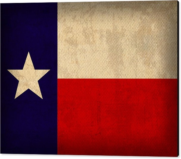Design Turnpike - Texas State Flag Lone Sta... Print