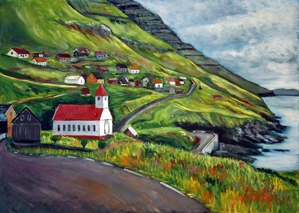 Julie Galante - Kunoy Faroe Islands Print