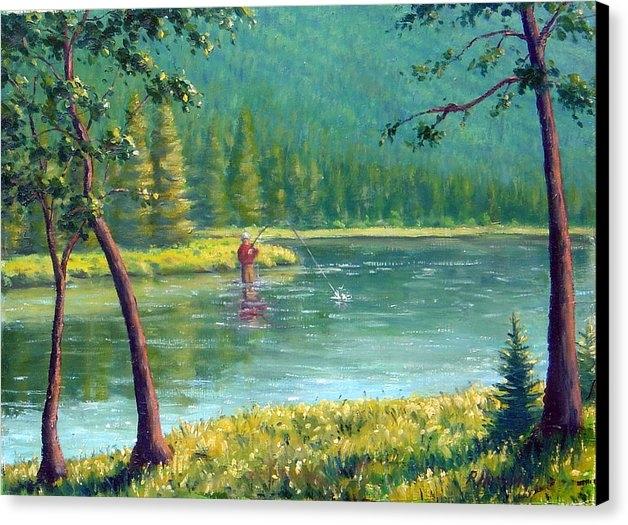 Rick Hansen - Afternoon Fishing Print