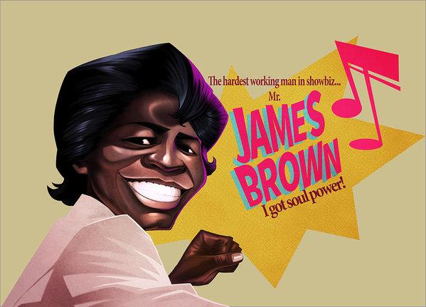 Nelson Dedos Garcia - James Brown Print