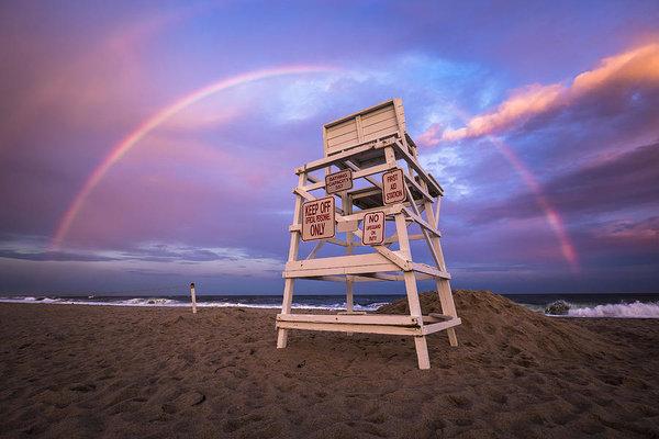 Ryan Moore - Coopers Beach Rainbow Print