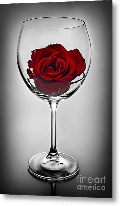 Elena Elisseeva - Wine glass with rose Print
