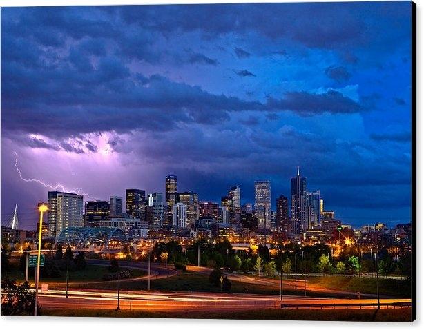 John K Sampson - Denver Skyline Print