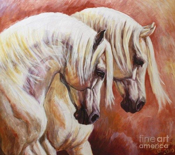 Silvana Gabudean - Arab Horses Print