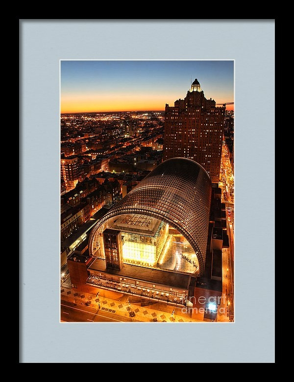 Ultra Violet Photography - Sunset over the Kimmel Print