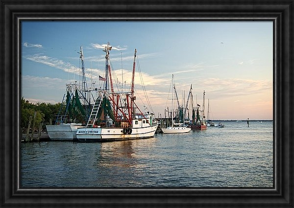 Matt Plyler - Shem Creek Shrimp Boats a... Print