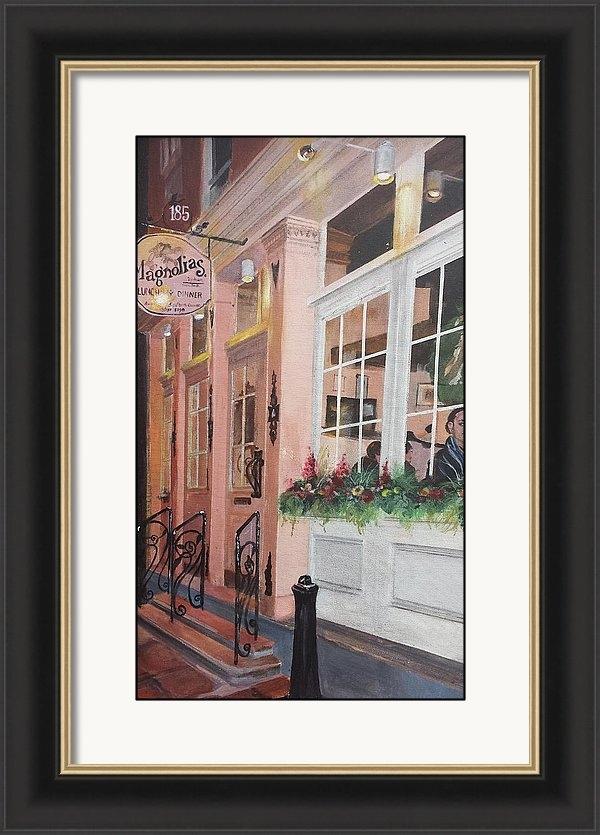 Cheryl LaBahn Simeone - Magnolias Restaurant Print