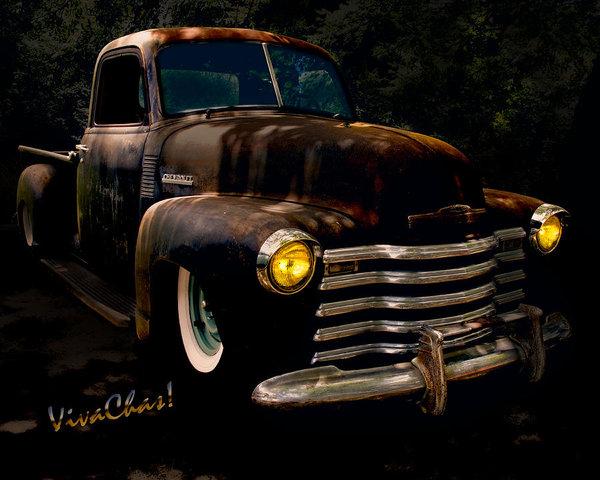 Chas Sinklier - Chevy Hot Rat Rod Pickup ... Print