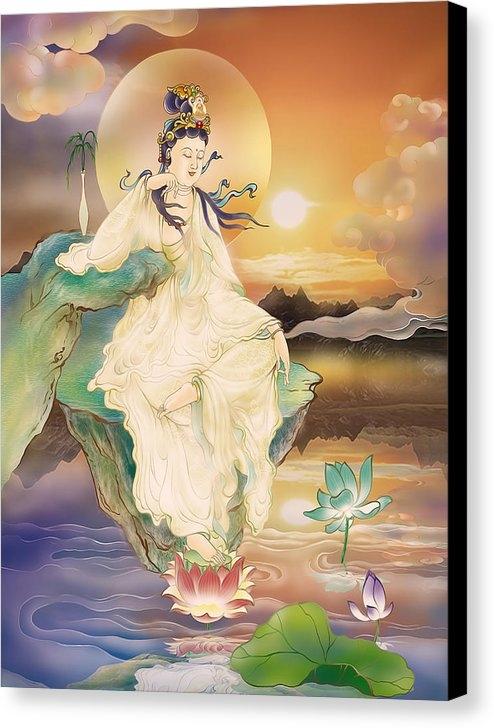 Lanjee Chee - Medicine-giving Kuan Yin Print