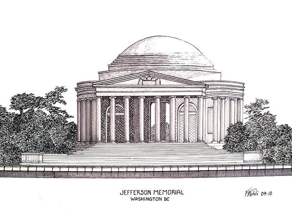 Frederic Kohli - Jefferson Memorial Print