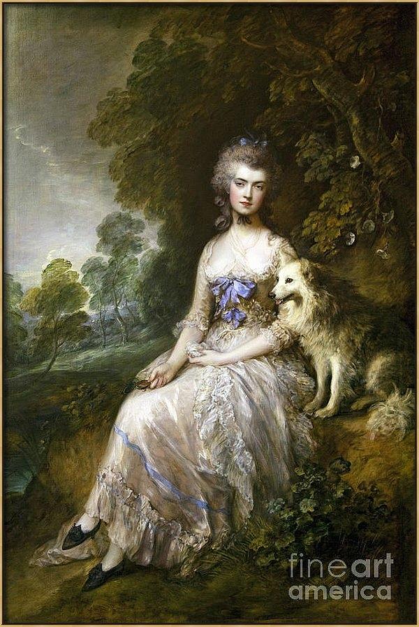 Sir Thomas Gainsborough - Mrs Mary Perdita Robinson... Print