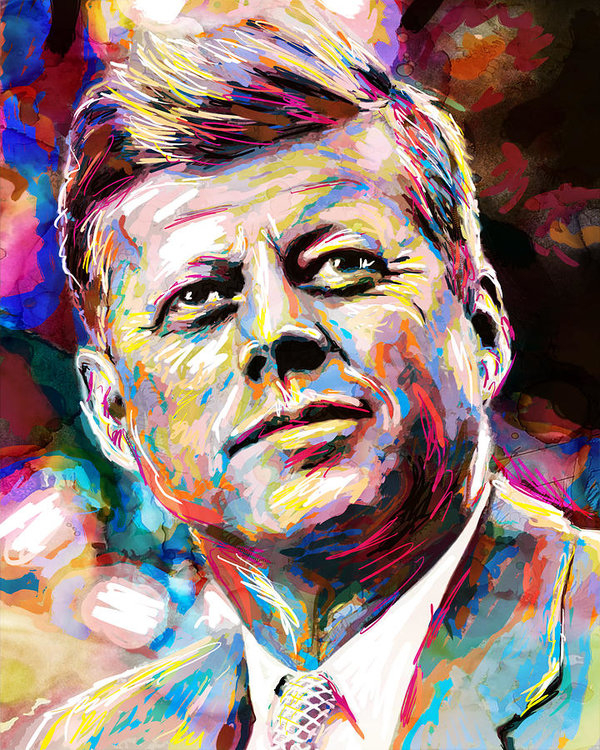 Pat Spark - John F Kennedy Painting  Print