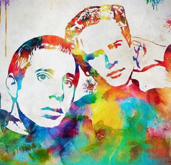 Dan Sproul - Colorful Simon And Garfun... Print