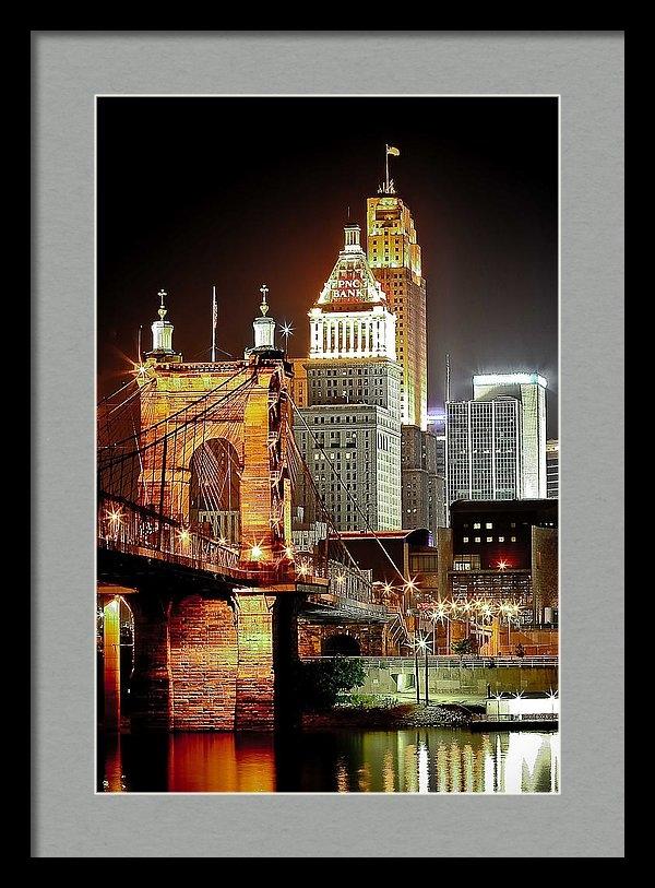 Keith Allen - Queen City at Night Print