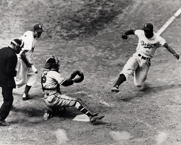 Gianfranco Weiss - Jackie Robinson in Action Print