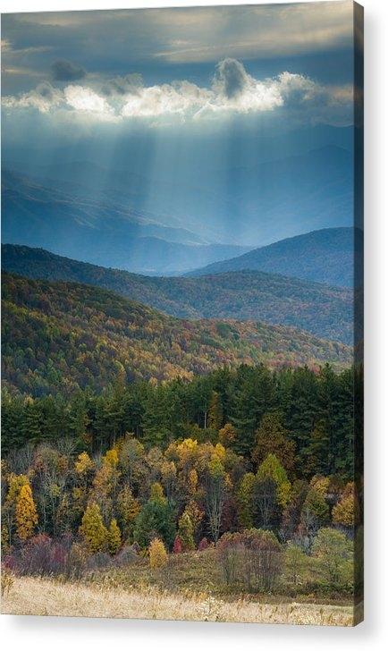 David Simchock - Max Patch in Autumn Print
